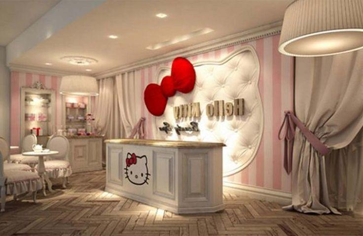 White Hello Kitty Room Design ~ http://www.lookmyhomes.com/hello-kitty-room-designs-ideas-for-girl/