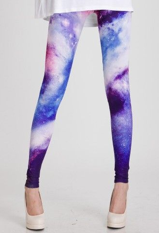 Galaxy Leggings - you have to have SKINNY legs to pull these off, I think, but they are awesome