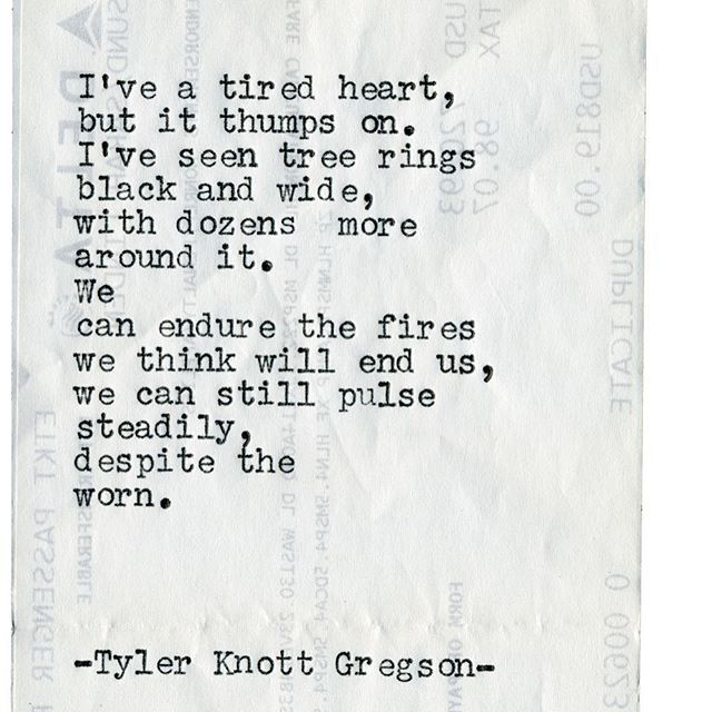 Typewriter Series #1976 by Tyler Knott Gregson ... Check out my Chasers of the Light Shop! chasersofthelight.com/shop