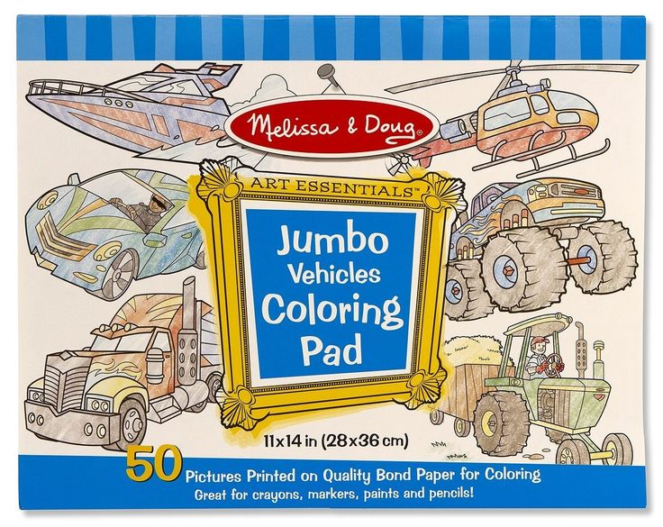 Melissa & Doug - Colouring Pad Jumbo Vehicles This will be awesome to keep the kids occupied. #Entropywishlist #Pintowin