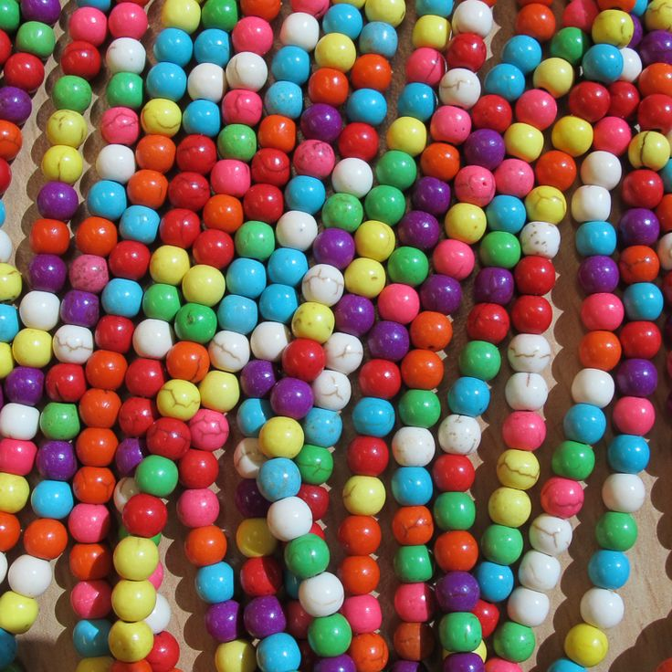 6mm howlite lots of colours