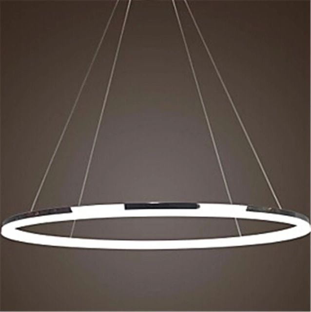 office chandelier lighting. wonderland modern led single ring stainless steel acrylic pendant light ce lamp creative office hotel home chandelier lighting n