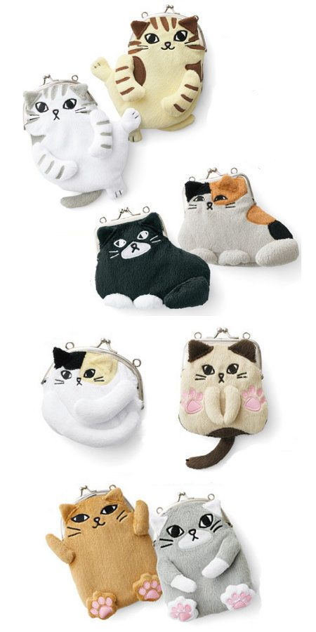 Kitty purses. ~ Get your Ozzi #Cat Magazine! Here http://OzziCat.com.au