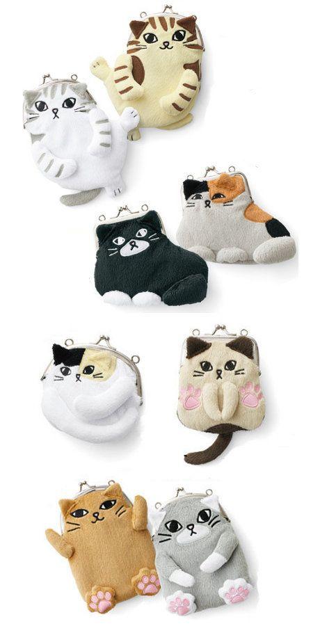 Kitty purses. ~ Get your Ozzi #Cat Magazine! Here http://OzziCat.com.au