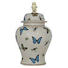 India Jane Butterfly Tall Jar Lamp Base