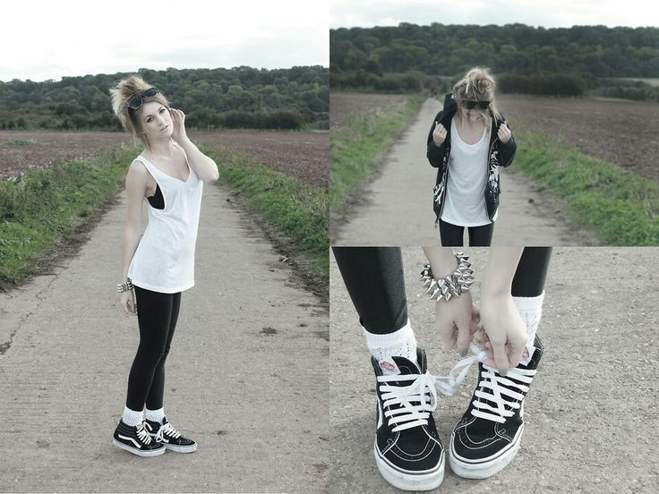 How to wear sK8 hi vans shoes.....espically with outfits