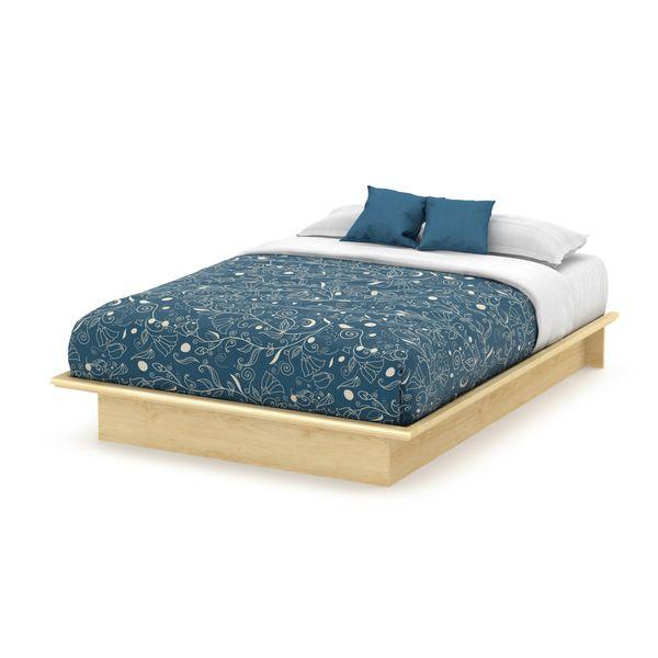 full size basics platform bed frame modern bedroom furniture natural maple new in home u0026 garden furniture beds u0026 mattresses beds u0026 bed frames