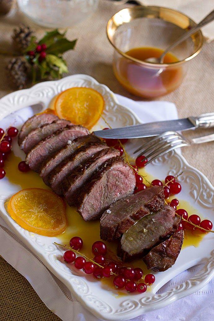 Yerbabuena en la cocina: Magret de pato con salsa de naranja caramelizada #DesafioBra