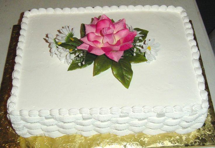 Pasteles Aniversarios Pictures To Pin On Pinterest: Pastel Rectangular Blanco