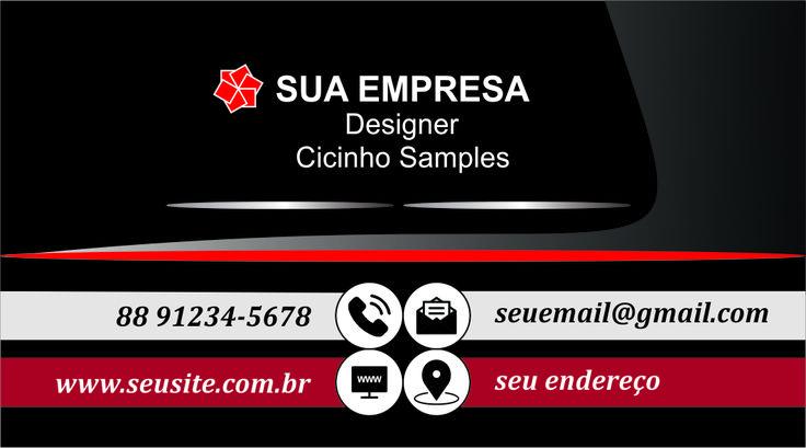 cartão de visita empresarial modelo amostra 09