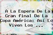 http://tecnoautos.com/wp-content/uploads/imagenes/tendencias/thumbs/a-la-espera-de-la-gran-final-de-la-copa-america-asi-lo-viven-los.jpg Copa América. A la espera de la gran final de la Copa América: así lo viven los ..., Enlaces, Imágenes, Videos y Tweets - http://tecnoautos.com/actualidad/copa-america-a-la-espera-de-la-gran-final-de-la-copa-america-asi-lo-viven-los/