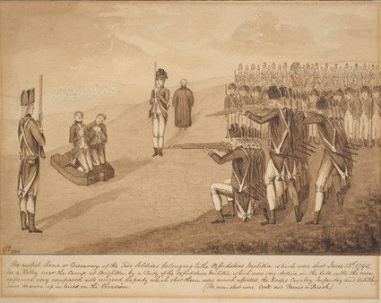 Execution of two soldiers near Brighton, June 1795.
