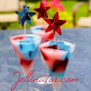 Star Spangled Jello Shots! Complete with recipe and step by step pictures! Perfect for any 4th of July festivities!
