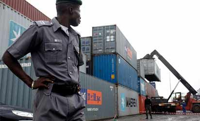 Customs seizes container laden with 440 arms, ammunition in Lagos