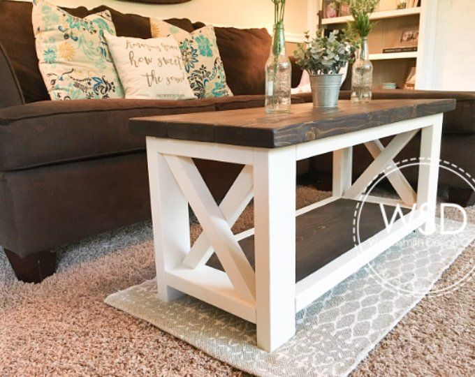 Custom Farmhouse End Table - Rustic Side Table - Living Room ...