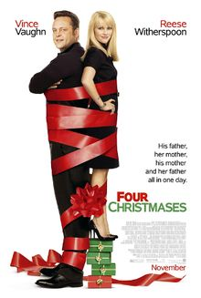 Four Christmases (Four Holidays in Australia and New Zealand, Anywhere But Home in the Netherlands, Norway, United Arab Emirates and in South Africa) is a Christmas-themed romantic comedy film about a couple who go to see their divorced parents in one day. The film is produced by Spyglass Entertainment released by New Line Cinema on November 26, 2008, the day before Thanksgiving, and distributed by Warner Bros. Pictures. It stars Vince Vaughn and Academy Award winner Reese Witherspoon as a…
