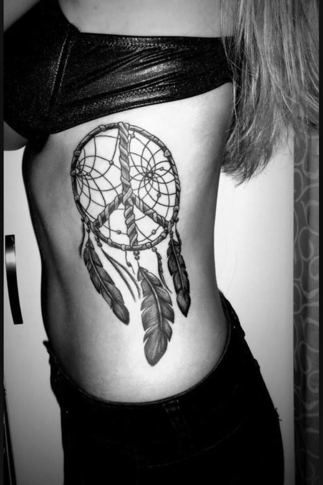 Getting! Peace sign dreamcatcher tattoo | Tattoos & Piercings ...