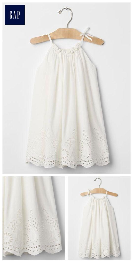 Eyelet border dress