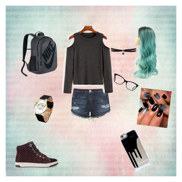 """monday school day"" by emo-watermelon on Polyvore featuring moda, 3x1, Geox, NIKE i Fallon"