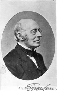 William Lloyd Garrison. Abolitionist and Publisher of The Liberator