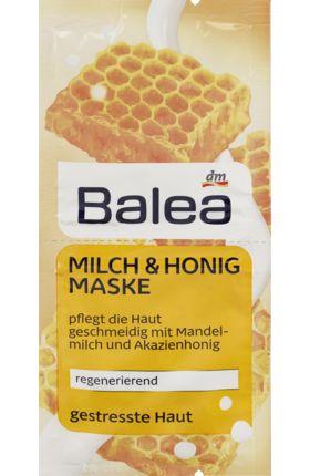 Balea Milch & Honig Maske mit Macadamianussöl wirkt intensiv pflegend und schützt Ihre Haut vor Feuchtigkeitsverlust – sie fühlt sich samtig-weich an....