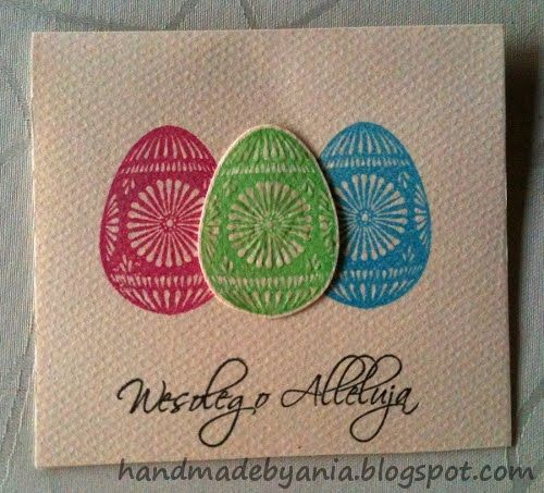 hand made by ANIA: Easter Card Series 2012 - day 1