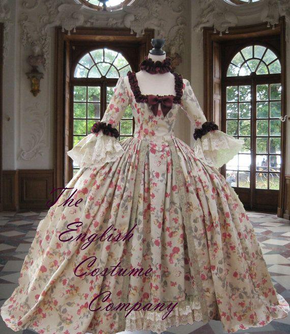 robe de Colonial géorgien Marie Antoinette par TheEnglishCostumeCo