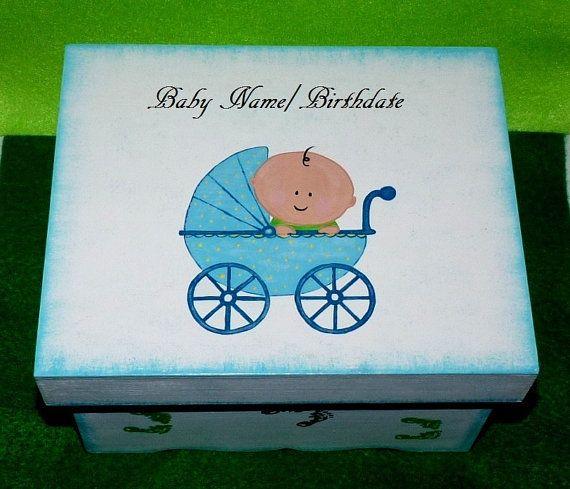 Hand Painted Baby Boy's Keepsake Box