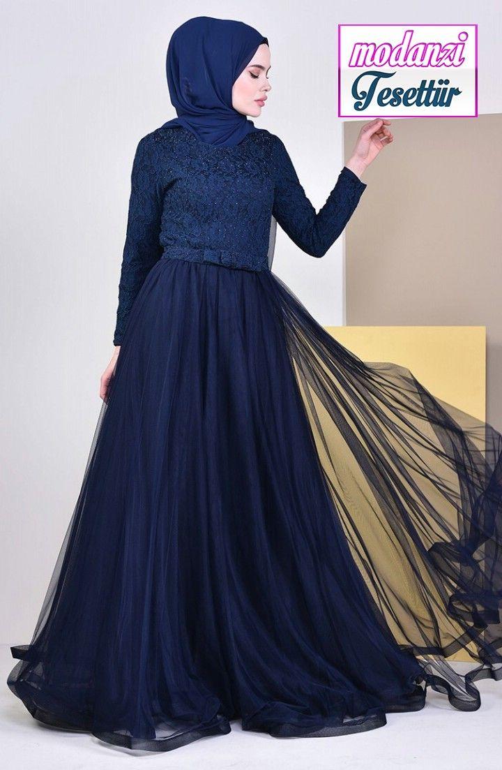 Dantel Detayli Abiye Elbise 5093 06 Lacivert Sefamerve Abiye 2020 2020 Elbise Elbise Modelleri The Dress