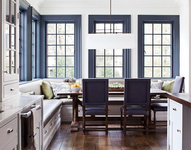 Marie Flanigan Interiors - Designer Tips for Pairing Your Trim and Wall Paint - Dark Meets Light - Blue Trim