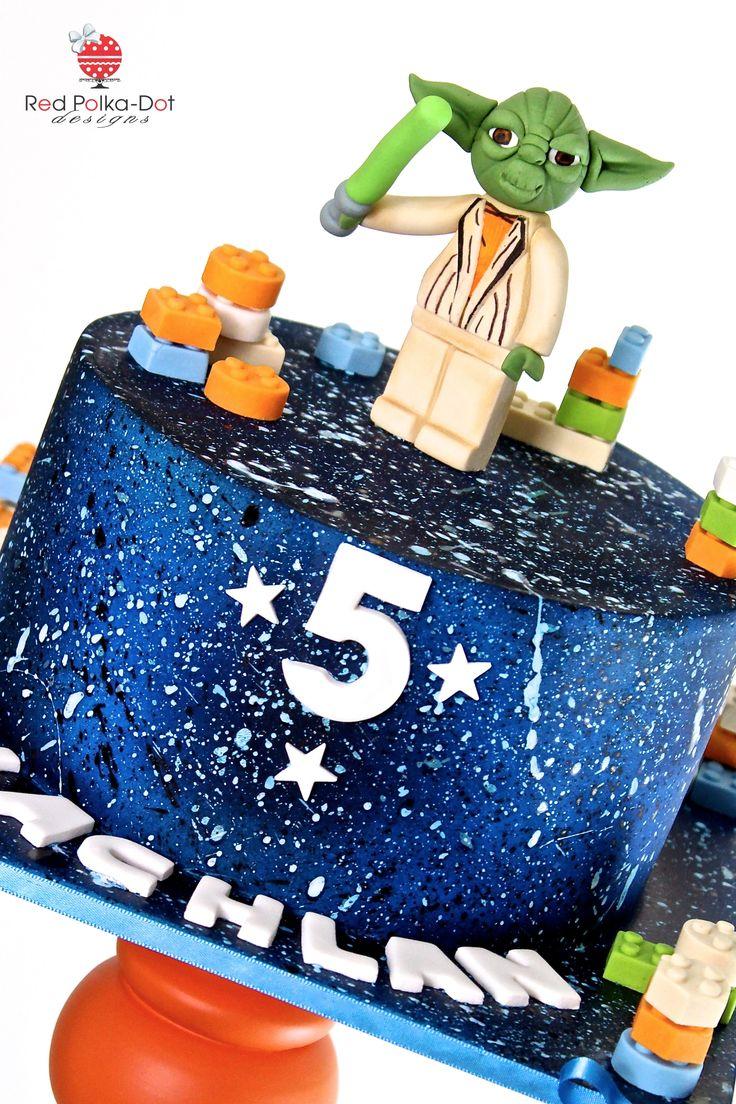 Galaxy Star cake, by Red Polka-Dot Designs
