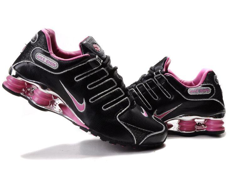 Pelo Púrpura Para Mujer Nike Shox Aire Actuales Zapatos Negro