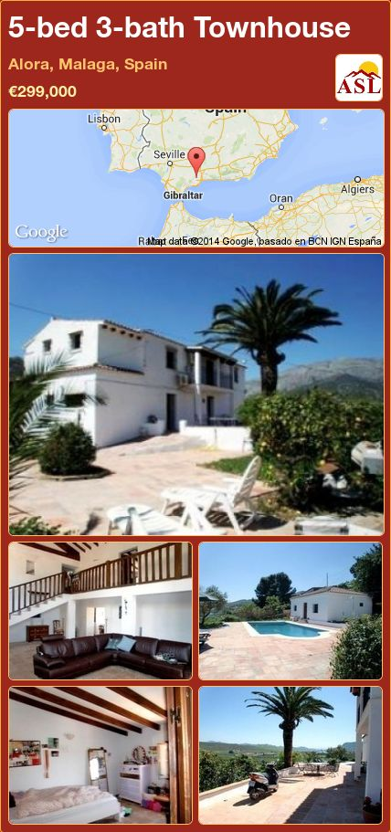 5-bed 3-bath Townhouse in Alora, Malaga, Spain ►€299,000 #PropertyForSaleInSpain