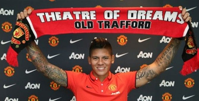 Marcos Rojo pleased to join Manchester United