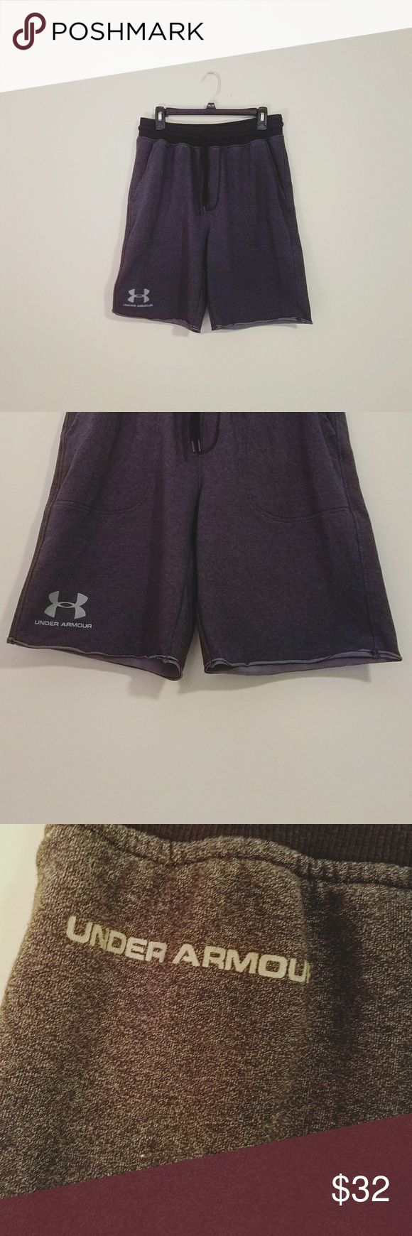 """Under Armour Men's Sweat/Athletic Shorts * These shorts do not have """"Under Armour written on the side....the picture is to show the length of the shorts. 
