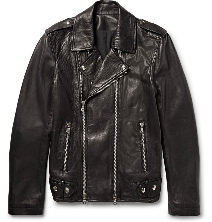 There are few garments more masculine and effortlessly cool than a well-made leather biker jacket. <a href='http://www.mrporter.com/mens/Designers/Balmain'>Balmain</a>'s version is quite supple, fully lined for a comfortable fit and finished with sturdy silver hardware. Throw it on with nearly anything to feel instantly more rebellious.