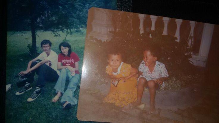 Potret Masa Kecil bersama Ridha Wahab Ambari