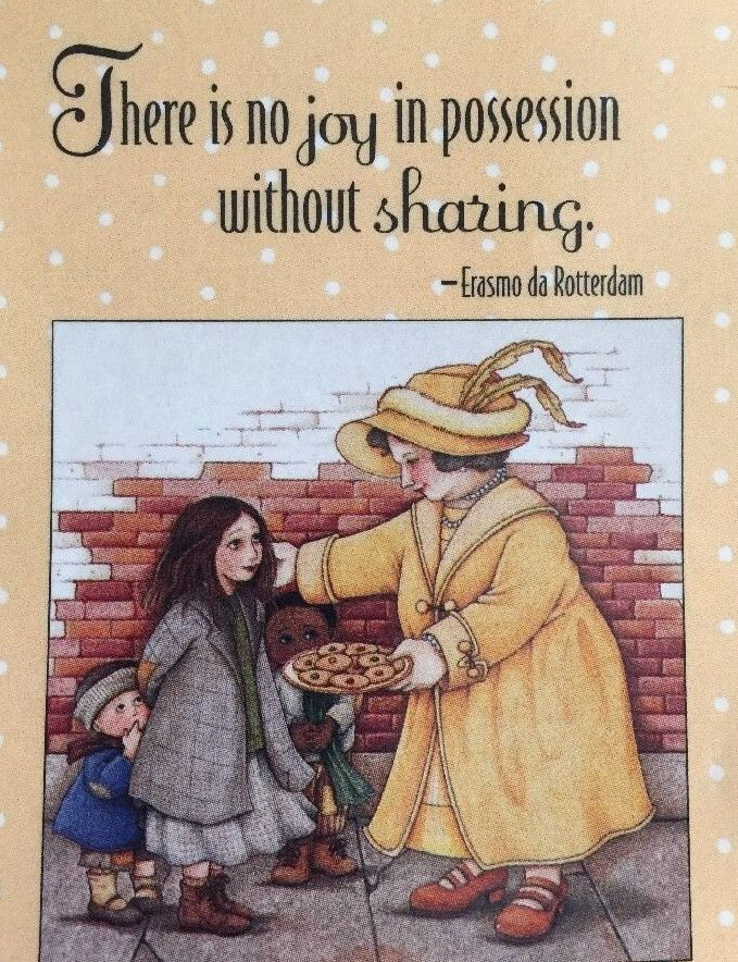 There Is No Joy In Possession-Mary Engelbreit Artwork Magnet