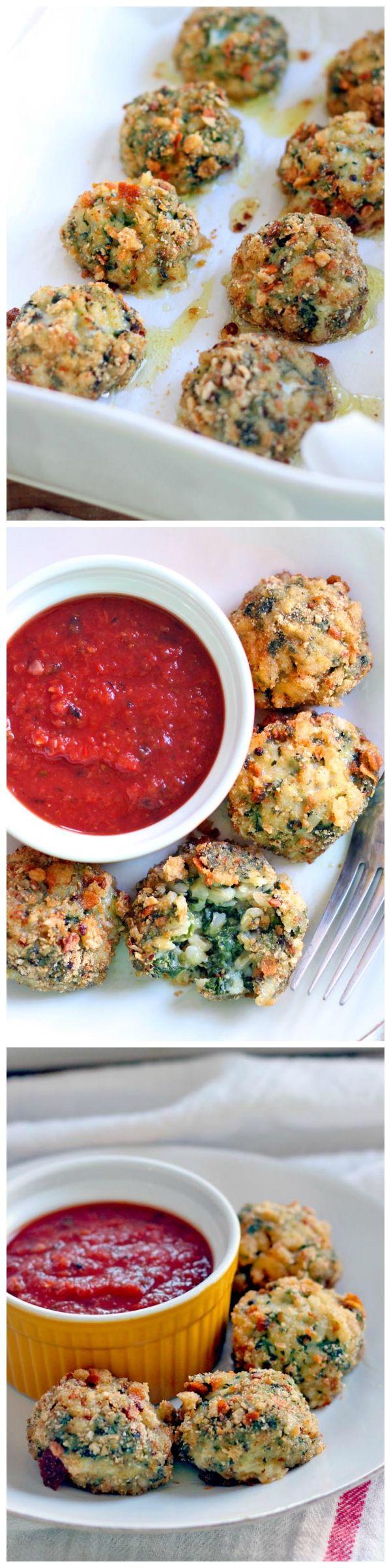 Oven-Baked Spinach and Barley Arancini (Italian Rice Balls)