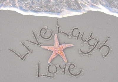 Live Laugh Love - Beach