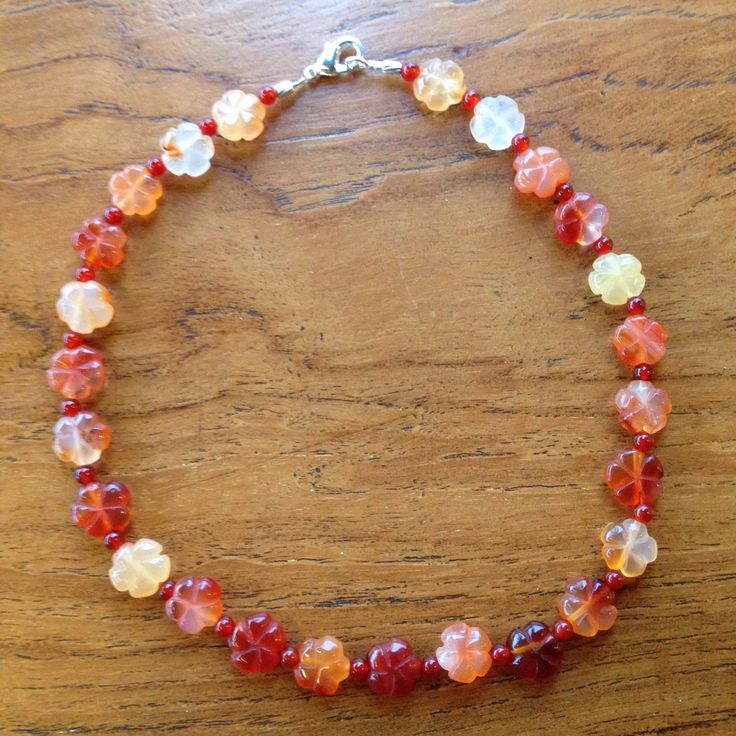 Carnelian & Red Agate necklace
