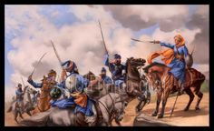 The Sikh warriors.