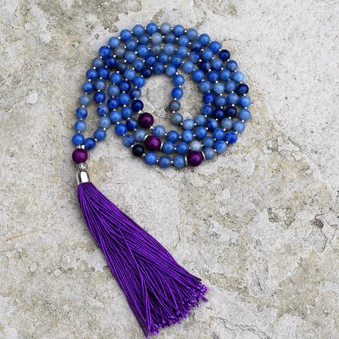 Enlightement Mala - Blue Aventurine