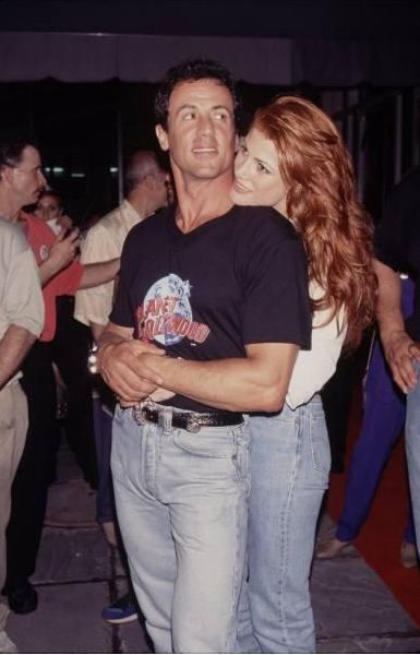 sylvester stallone & angie everhart