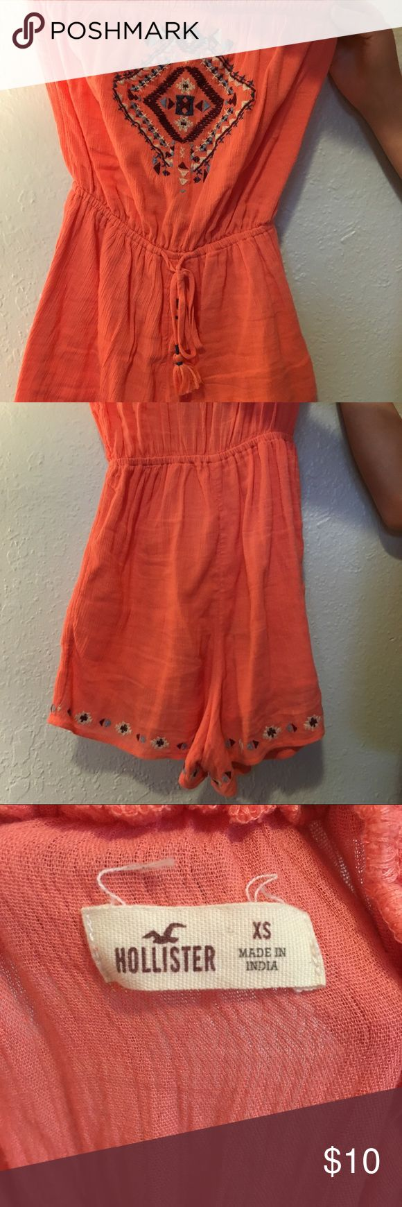 Hollister romper This a cute summer outfit that can go with any sandal or heel!  Great condition  Size x-small Hollister Other
