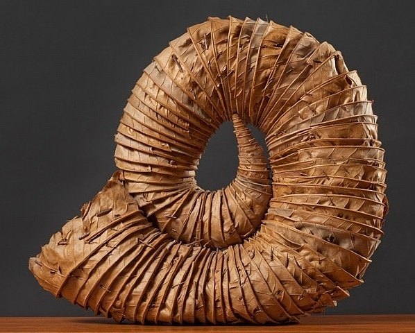 Andy Goldsworthy, Leaf Horn, 1996.