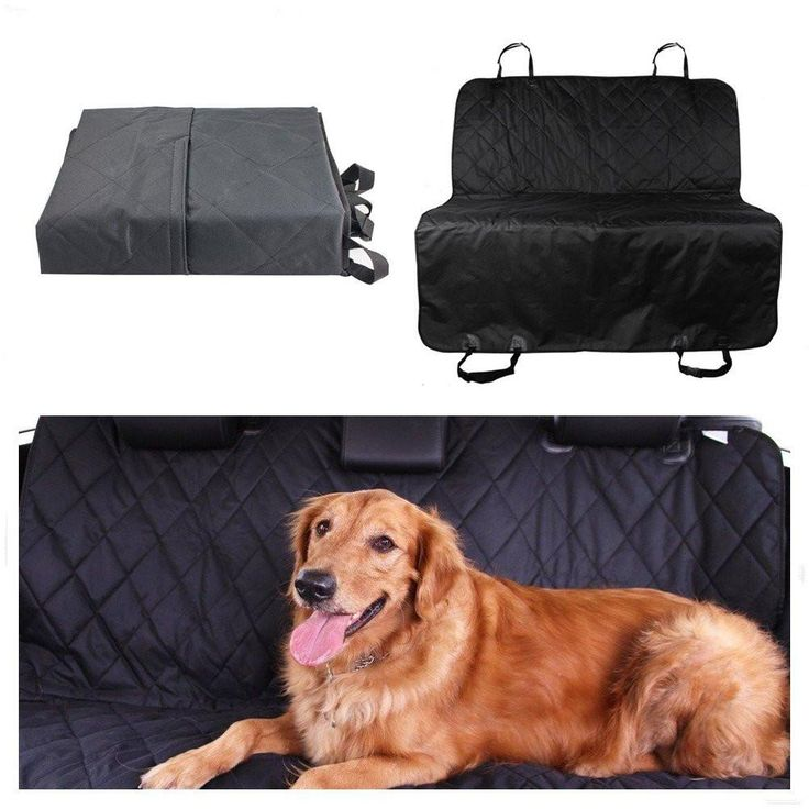 """Pet Dog Car Back Seat Cover Waterproof Non-slip Machine Washable Barrier Dog Seat Cover Hammock Protector Mat Blanket for Travel Black Black Without Side Flaps 60""""x58""""-Large"""