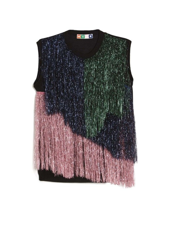 MSGM Metallic Fringe Top