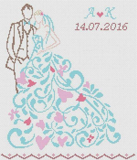 Схемы для вышивки крестом свадебная открытка, днем рождения учительнице