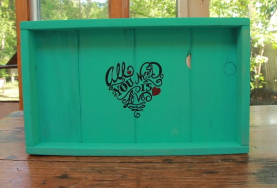 Amazingly lovely one of a kind handpainted PEEK A BOO serving trays at Lucys Garden Etsy Shop.